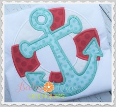 Baby Kay's Appliques - Nautical Lifesaver with Anchor