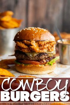 These Cowboy Burgers are officially the most delicious burgers you'll ever make. Plus they're so simple to make! | www.dontgobaconmyheart.co.uk Weed Recipes, Dog Recipes, Baby Food Recipes, Indian Food Recipes, Cooking Recipes, Tasty Videos, Food Videos, Cowboy Burger, Best Burger Recipe