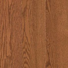 Mohawk - Raymore Oak Gunstock Finish Thick x 5 in. Wide x Random Length Solid Hardwood Flooring, 19 sq./Case - With a 1290 Janka rating and eased edging and square ends, this medium gloss, flat finish flooring is made in the USA. Mohawk Industries, Oak Hardwood Flooring, Laminate Flooring, Mohawk Flooring, Lowes Home, Nebraska Furniture Mart, Red Oak, My New Room, Wood Species