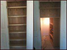 Hidden Stash Room Behind Bookshelf Door Closet Safe Gun Storage