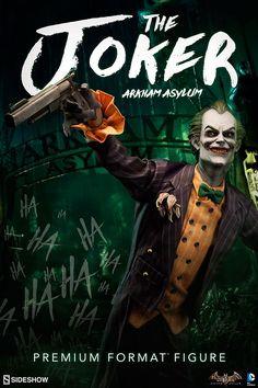 The Joker Arkham Asylum Premium Format Figure is now available at Sideshow.com for fans of the Batman Arkham Asylum video game.