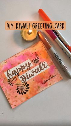 Dad Crafts, Bunny Crafts, Diy Arts And Crafts, Paper Crafts, Diwali Greeting Cards, Diwali Greetings, Diwali Cards, Birthday Gifts For Best Friend, Bff Birthday