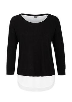 Pullover mit Crêpe-Layering von s.Oliver. Entdecken Sie jetzt topaktuelle Mode für Damen, Herren und Kinder online und bestellen Sie versandkostenfrei.