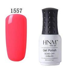HNM Pure Color 8ML UV Gel Nail Polish Long Lasting Gel Lak Nail Lacquer Polish Base Coat Top Varnish Nail Art Hybird Nagellak