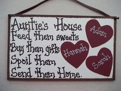 AUNT Auntie sign gift personalized sign nana grammi great grandma mammi granny grandkids names in hearts on Etsy, $13.99