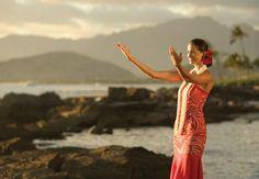 Beautiful and sophisticated hawaiian woman