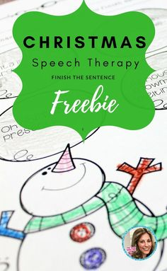 Christmas speech therapy freebie! Finish the sentence activity- fun for articulation and language therapy!