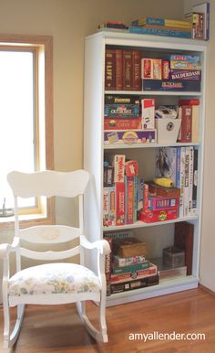 Board game storage Board Game Storage, Fun Board Games, Abc Games, Batman Room, Playroom Organization, Organizing, Toy Rooms, Kids Storage, Upcycled Furniture
