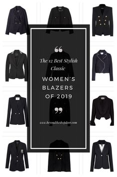 The 12 Best Stylish Classic Women's Blazers of 2019 Dress Up Jeans, Military Style Jackets, Double Breasted Blazer, Edgy Look, Lifestyle Fashion, Blazer Fashion, Blazer Buttons, Piece Of Clothing, International Fashion