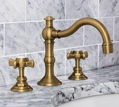 Langford Cross Handle Widespread Bathroom Faucet