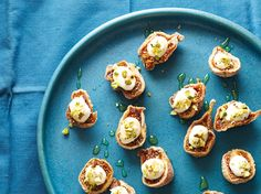 Figs with Ricotta, Pistachio, and Honey recipe from Ellie Krieger via Food Network
