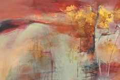 """Daily Painters Abstract Gallery: Contemporary Abstract Landscape Painting """"Inherent Possibilities"""" by Intuitive Artist Joan Fullerton"""