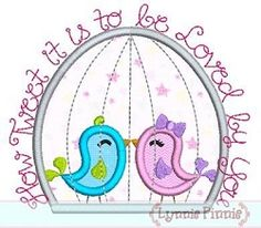 How Tweet Birdcage Applique - 4 Sizes! | Words Applique Machine Embroidery Designs | Machine Embroidery Designs | SWAKembroidery.com $3.99