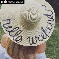 When your favorite illustrator rocks your Hello Weekend hat so beautifully! The  goes hand in hand with your saying!  Thanks so much for sharing Heather! ------- #Repost @heather_rosehill with @repostapp ・・・ Hello Weekend! Loving my new hat from @shop_lululuxe  who is ready for the weekend? #weekend #summer #hat #instagood ☀️ #august #fashion #helloweekend