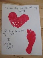 Valentines craft...DONE!! from the bottom of my heart, to the tips of my toes... I LOVE YOU!