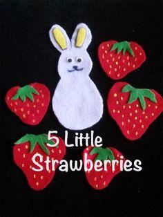 Felt Board Rhyme - 5 Little Strawberries - LittleStoryBug