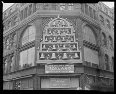 Christmas decorations on Jordan Marsh store, Boston