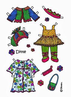 Ditte Paper Doll to Print in Colours. Ditte påklædningsdukke til at printe i farver. - karenspaperdolls - Picasa Webalbum