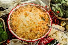 Tasty and easy to make Spinach and Artichoke Casserole by Courtney Throne-Smith! Don't miss Home & Family weekdays at 10a/9c on Hallmark Channel!