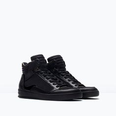 ZARA - PROMOCIJA - PADDED ANKLE HI-TOP SNEAKERS