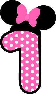Passatempo Da Ana Numeros Minnie Red And Pink Minnies Numbers Free Mouse PartyMinnie