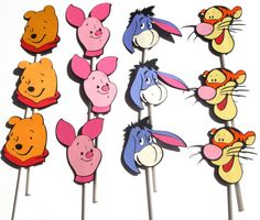 12 Winnie The Pooh Themed Cupcake Toppers For by ScrapsToRemember, $15.00