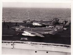 Sea Vixens Navy Aircraft, Military Aircraft, De Havilland Vampire, Naval Aviator, Aviation Image, Fighter Aircraft, Aircraft Carrier, Royal Navy, Cold War