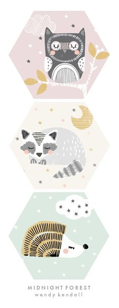 wendy kendall designs – freelance surface pattern designer » midnight forest: