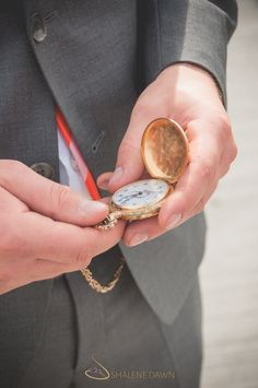 Grooms gold pocket watch | Shalene is an Edmonton based photographer who specializes in wedding photography. Her photos are simple and elegant with a vintage style feeling.