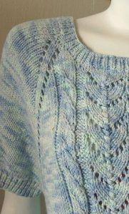 Bamboozle Raglan Short Sleeve Lace Top Free Knitting Pattern