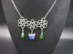 Butterfly Chainmaille Necklace by RingedDesigns on Etsy