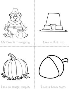 My Colorful Thanksgiving Book from TwistyNoodle.com