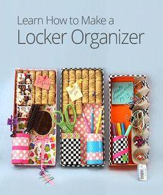 DIY locker organizer