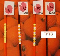 Turkey Teen Number Counting | The Preschool Toolbox Blog