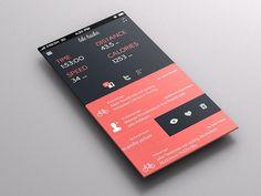 App UI Design Bike Tracker