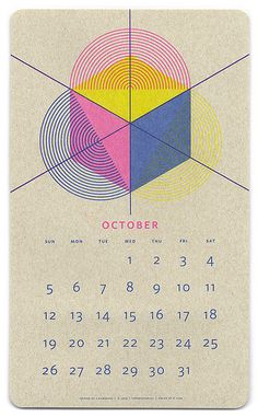 Paper-Pusher-2014-Risograph-Calendar-October by J.P. King, via Flickr