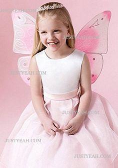 A line Floor Length Skirt Flower Girl Dress