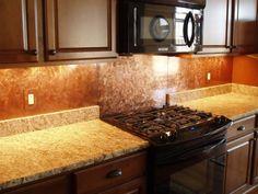Image result for copper backsplash tiles