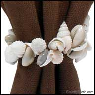 Shells Decorative Napkin Ring or curtain tie back
