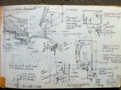 Pencil Sketch Le Corbusier House, Paris 1984