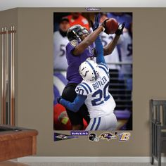 Anquan Boldin Touchdown Catch Mural, Baltimore Ravens #FatheadMoments