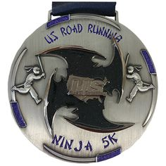 "Now Open! Ninja Virtual 5K Run/Walk 3.5"" Finisher Medal and Cool Race Bib - $16.99. http://usroadrunning.com/index.php?club_id=2989 Run or walk at your location and earn your race finisher medal! You can use your treadmill or run/walk around your neighborhood. The goal is to get out and run/walk. To see live races and more virtual race options go to http://usroadrunning.com"