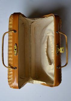 Wicker Cool / bolso vintage de bambú de la República por Limbhad, €24.00