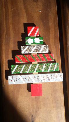 Christmas tree decor, Mini Christmas tree, Mini tree ornament, Merry Christmas, Hand painted tree by IndigoWanderlust on Etsy