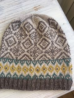 Ravelry: A little bit of SUNSHINE pattern by Anne B Hanssen (free copy saved in Ravelry library) Knitting Wool, Fair Isle Knitting, Knitting For Kids, Knitting Projects, Crochet Projects, Knitting Patterns, Crochet Patterns, Hat Patterns, Knitting Ideas