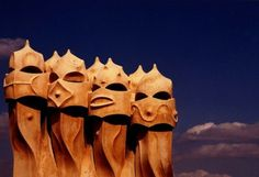 la pedrera by gaudi. artist and architect.