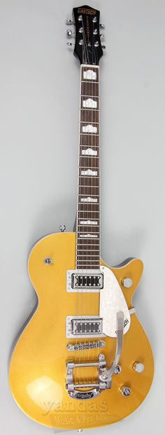 """Gretsch G5438T Electromatic® Pro Jet models take on a new voice and identity—chambered basswood bodies and arched maple tops resonate true to That Great Gretsch Sound!™, along with dual """"Black Top"""" Fi"""