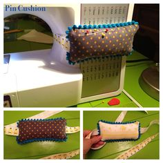 Pin cushion that ties to your sewing machine