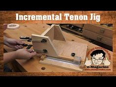 Amazing Homemade Table Saw Tenon Jig With An Incremental Positioner - YouTube