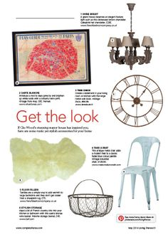 Transform your home into a rustic manor house with our get the look page in the May issue of Living France